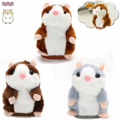 Talking Hamster Electronic Plush Toy Mouse Pet Sound Soft Cute Gift Kid Children