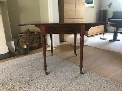 Antique Mahogany Drop Leaf Table with drawer
