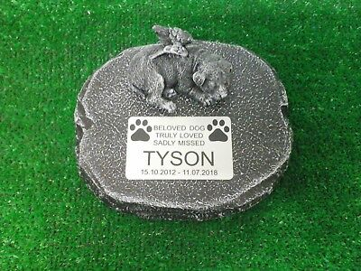Dog Large Pet Memorial/headstone/stone/grave marker/memorial with plaque 11
