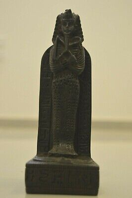 Egyptian Pharaoh Tut King Ancient Statue Stone Figurine Handmade Decor Black