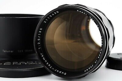 【Exc+4】 Pentax Super Takumar 135mm F/2.5 Lens M42 w/ Hood From Japan