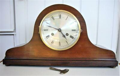 Antique Striking 8-Day Napoleon Hat Mantel Clock - Working Well