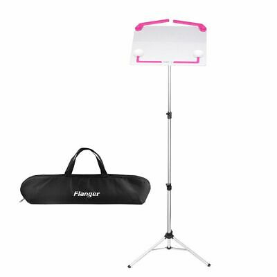 Adjustable Folding Sheet Music Metal Stand Holder Mount Tripod with Carrying Bag