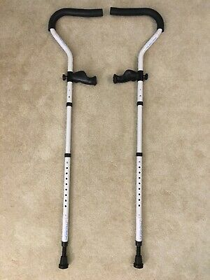 """Crutches-Precision Medical Products 5'7"""" & Under Adjustable Ergonomic Foldable"""