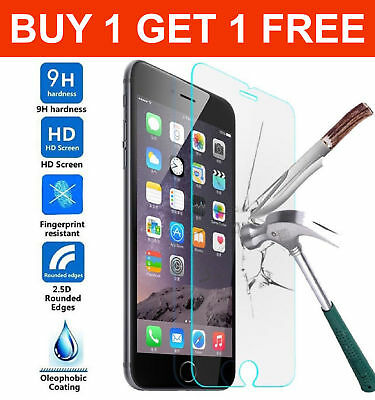 100% Genuine Tempered Glass Film Screen Guard Protector For Apple Iphone 6S & 6
