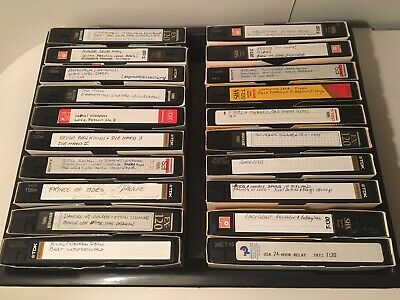 Recorded Lot Of 20 VHS Tapes Movies Shows Commercials 80'-90's Auction Finds 702