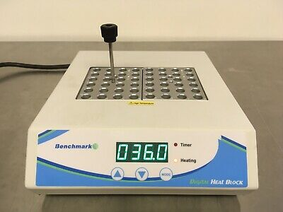 Benchmark Scientific Model BSH1002 Digital Dry Bath w/ 2 Blocks Tested Nice