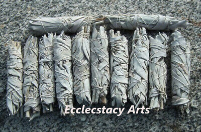 """100 White Sage Smudge Stick Wands House Cleansin Removal 4-5"""" Wholesale Bulk Lot"""