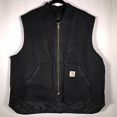 Carhartt Men's Size XXXL VQ185 Black Vest Padded Quilted Made In USA