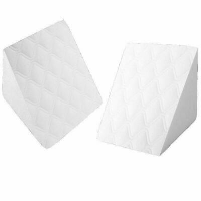 Wedge Pillow -Back Support Aid Reliever - Reclining Quilted Orthopedic Foam Bed