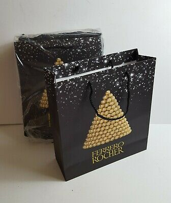 """Ferrero Rocher Large Gift Carrier Bags Brand New Pack of 24 11.5"""" x 13"""""""