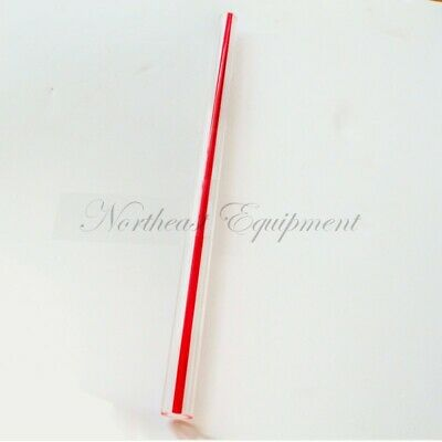 "clear acrylic tube with red stripe .375 x .625 x 72"", sight gauge, liquid level"