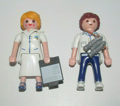 Playmobil Lot 2 Personnage Femme Agent Accueil Ferry + Marin & Accessoires