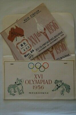 Olympic Games Collectable 1956 Melbourne Vintage Myer Emporium Tickets/Envelope