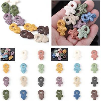 Wholesale Natural volcanic Lava Stone Loose Beads DIY Earring Findings
