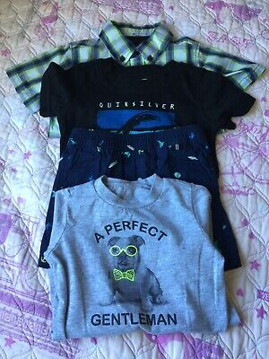 Lot Of 4 Toddler Boy's T-Shirt Hurley,QuickSilver,OkieDokieShort Sleeve Size 18M