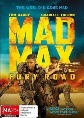 Mad Max Fury Road DVD 2015 MA 15 + / Last orders shipped Tue/Wed - Closed4good!