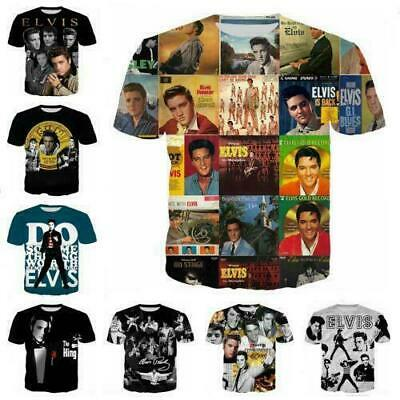 New Women/Men Rock Singer Elvis Presley 3D Print Casual T-Shirt Short Sleeve Top