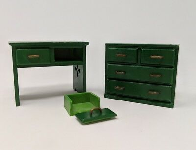 Epoch Calico Critters Furniture Sylvanian Families Green Parts 1985