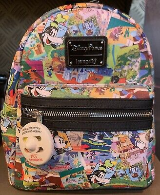 2019 Disney Parks Map Attractions Mini Backpack Loungefly BAG