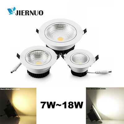 Dimmable Recessed Led Ceiling Downlight COB Spotlight Lamp Cool White 7/9/12/15W