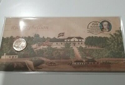 2019 $1 Rum Rebellion PNC with the wrong Coin