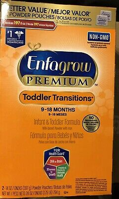 Enfagrow PREMIUM Non-GMO Toddler Transitions Formula Powder Refill Box 28oz (3)