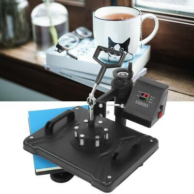 8 in 1 Combo Heat Press Machine Transfer Sublimation T-Shirt Mug Hat Plate Cap