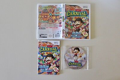 New Carnival Games (Nintendo Wii, 2010)-Excellent Condition!