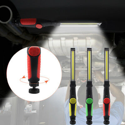 USB Rechargeable COB LED Magnetic Work Light Adjustable Camping Inspection Lamps