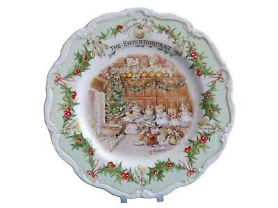 "The Entertainment Brambly Hedge 8"" Plate Royal Doulton  - Excellent"