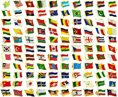 World National 200+ Flags States Metal Enamel Lapel Pin Badge Collection