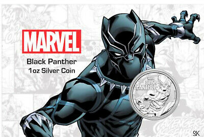 2018 Black Panther Marvel Comics 1 oz Silver Coin in Card