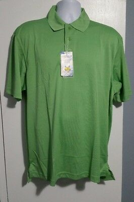 NWT Mens Size Large EV Run Golf Polo Shirt Green Eversole Run EVR-Dri Plus