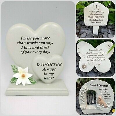 Daughter Baby Memorial Plaque Frame Stake Flower Vase Grave Candle Remembrance