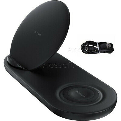 2in1 Qi Wireless Fast Charging Charger Dock Stand Mat Pad for Watch Smart Phone