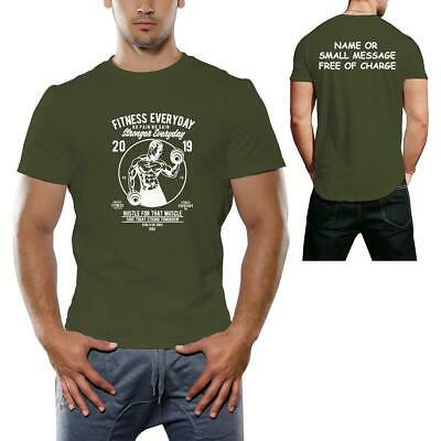 Fitness Everyday Athlete Gym Workout Body Building Crossfit Mens Printed Tshirt