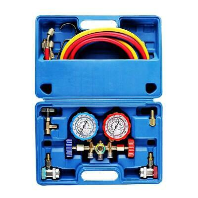 OrionMotorTech 3 Way AC Diagnostic Manifold Gauge Set for Freon Charging,...