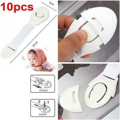 10PCS Safe Child Infant Baby Kid Home Drawer Door Cabinet Cupboard Toddler Lock