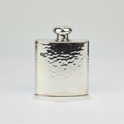 Vintage Hand Hammered Sterling Silver Liquor Flask by Schroth - SL