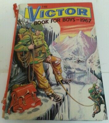 ANNUAL - Vintage The Victor Book For Boys 1967 Hardback Children's  Book Retro