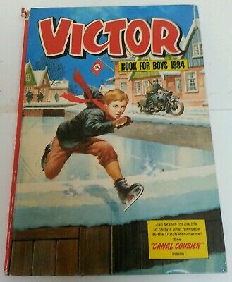 ANNUAL - Vintage The Victor Book For Boys 1984 Hardback Children's Retro Book