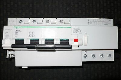 DISJONCTEUR DIFFERENTIEL 100A 300mA TETRA. SCHNEIDER ELECTRIC MX+OF MERLIN GERIN