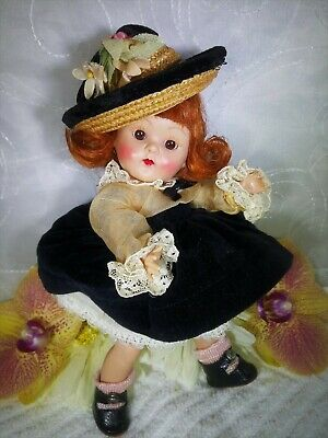 """Gorgeous Vintage Vogue Strung Pl Ginny Doll In 1952 """"Ginny Series"""" Outfit #81"""