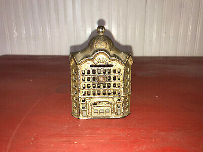 Antique Still Domed Bank Building Cast Iron Bank