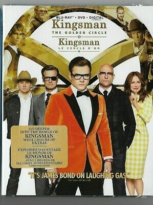 Sealed New DVD + Blu-Ray + Digital - KINGSMAN THE GOLDEN CIRCLE Also French