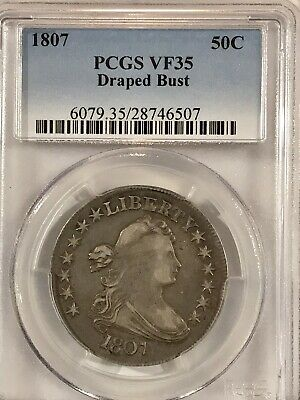 1807 Draped Bust Half Dollar VF35  PCGS certified