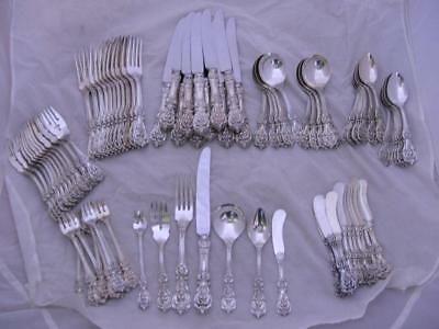 84pc Sterling REED & BARTON Flatware Set FRANCIS I ~ dinner size ~service for 12