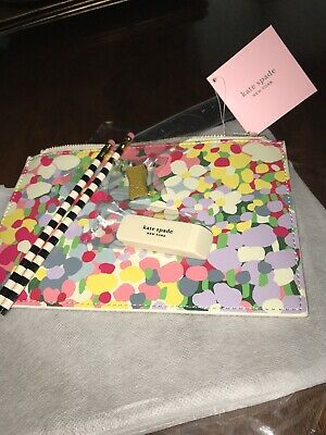 Kate Spade Floral Dot Pencil Pouch Clutch NWT In original wrappings