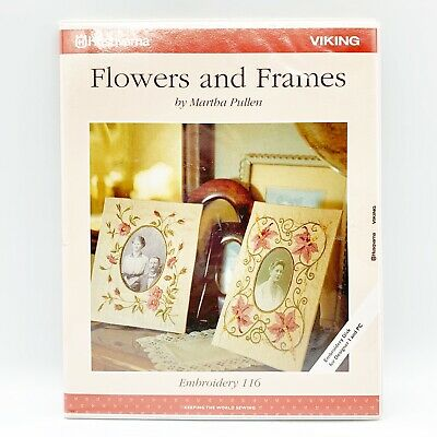 Husqvarna Viking Embroidery Designs Disk #116 Flower and Frames Designs Booklet